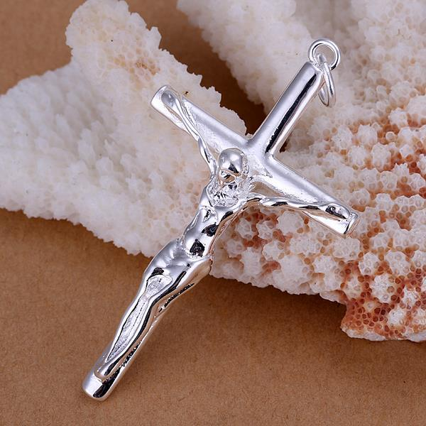 Vienna Jewelry Sterling Silver Biblical Cross Pendant