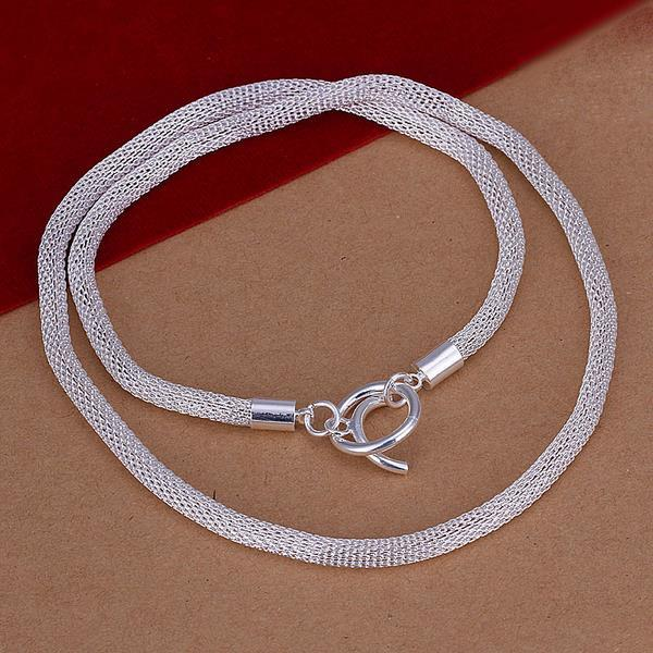 Vienna Jewelry Sterling Silver Snake Design Necklace