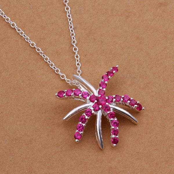 Vienna Jewelry Sterling Silver Coral Citrine Starfish Drop Necklace