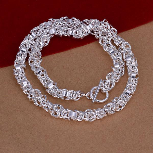 Vienna Jewelry Sterling Silver Chain Clasp Thick Necklace