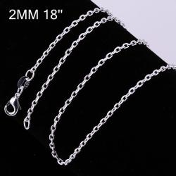 Vienna Jewelry Sterling Silver Mini Connected Chain Necklace - Thumbnail 0