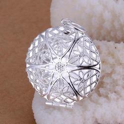 Vienna Jewelry Sterling Silver Laser Cut Circular Pendant - Thumbnail 0