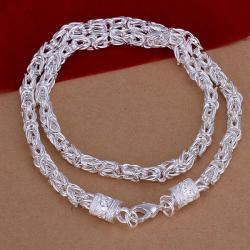 Vienna Jewelry Sterling Silver Muli-Thick Connected Chain Necklace - Thumbnail 0