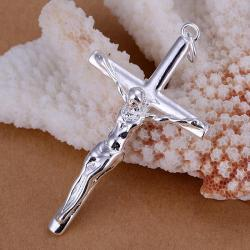 Vienna Jewelry Sterling Silver Biblical Cross Pendant - Thumbnail 0