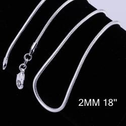Vienna Jewelry Sterling Silver Modern Inspired Chain Necklace - Thumbnail 0
