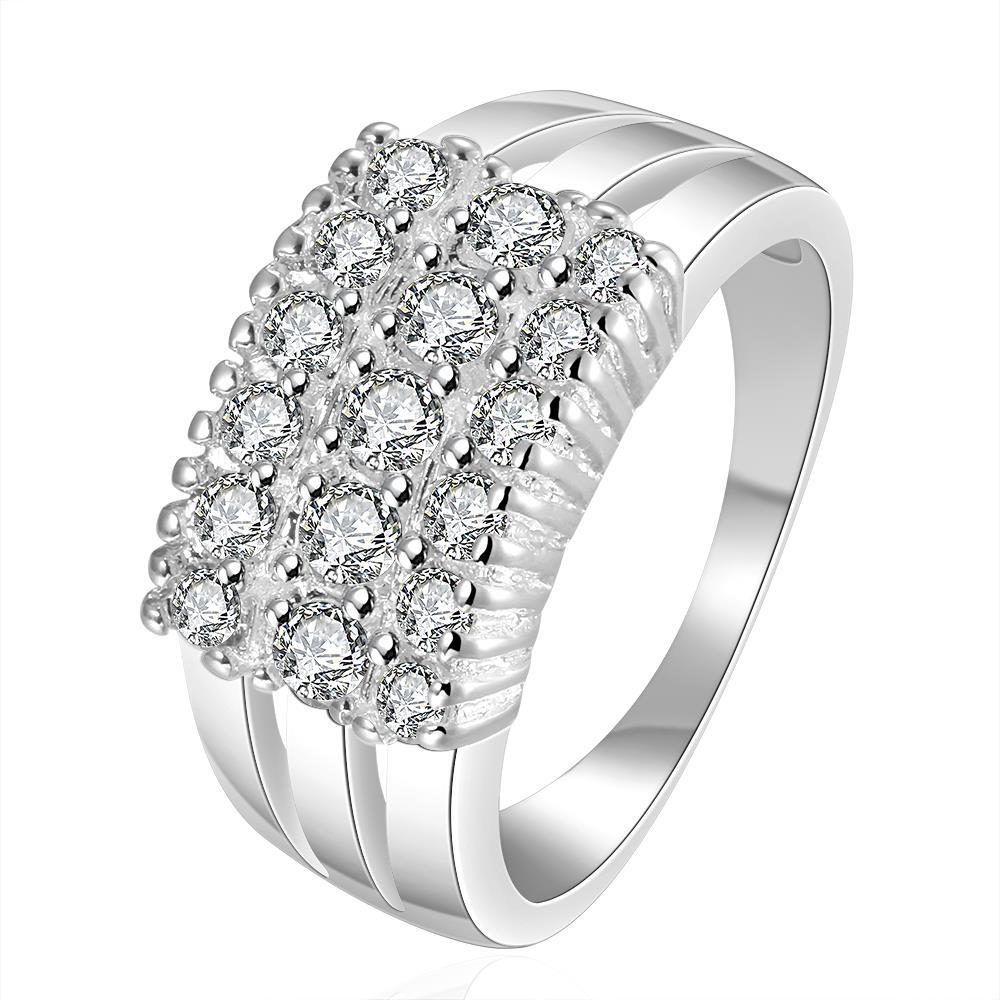 Vienna Jewelry Sterling Silver Multi-Crystal Jewel Petite Ring Size: 7
