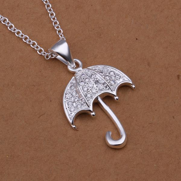 Vienna Jewelry Sterling Silver Jewels Umbrella Drop Necklace