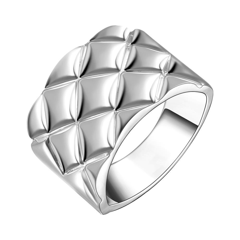 Vienna Jewelry Sterling Silver Curved Lining Modern Thick Ring Size: 8