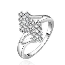 Vienna Jewelry Sterling Silver Blossoming Orchid Petite Ring Size: 7 - Thumbnail 0
