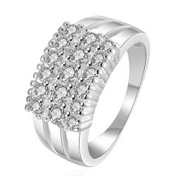 Vienna Jewelry Sterling Silver Multi-Crystal Jewel Petite Ring Size: 7 - Thumbnail 0