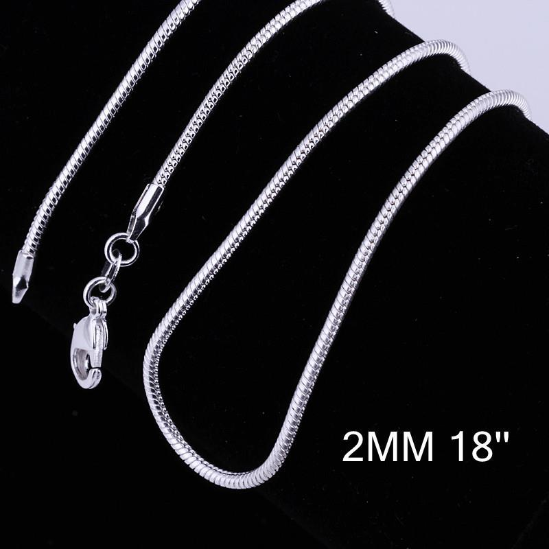 Vienna Jewelry Sterling Silver Modern Inspired Chain Necklace
