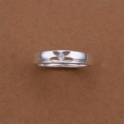 Vienna Jewelry Sterling Silver Hollow Petite Butterfly Ring Size: 8 - Thumbnail 0
