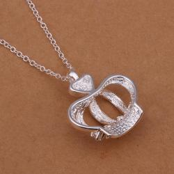 Vienna Jewelry Sterling Silver The King's Crown Drop Necklace - Thumbnail 0