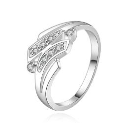 Vienna Jewelry Sterling Silver Duo-Jewels Lining Petite Ring Size: 8 - Thumbnail 0