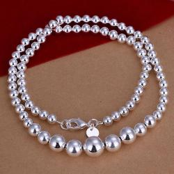 Vienna Jewelry Sterling Silver Multi Pearl Drop Necklace - Thumbnail 0