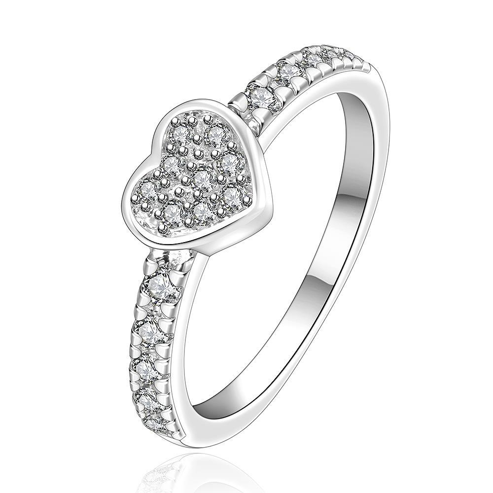 Vienna Jewelry Sterling Silver Heart Shaped Jewels Covering Petite Ring Size: 7