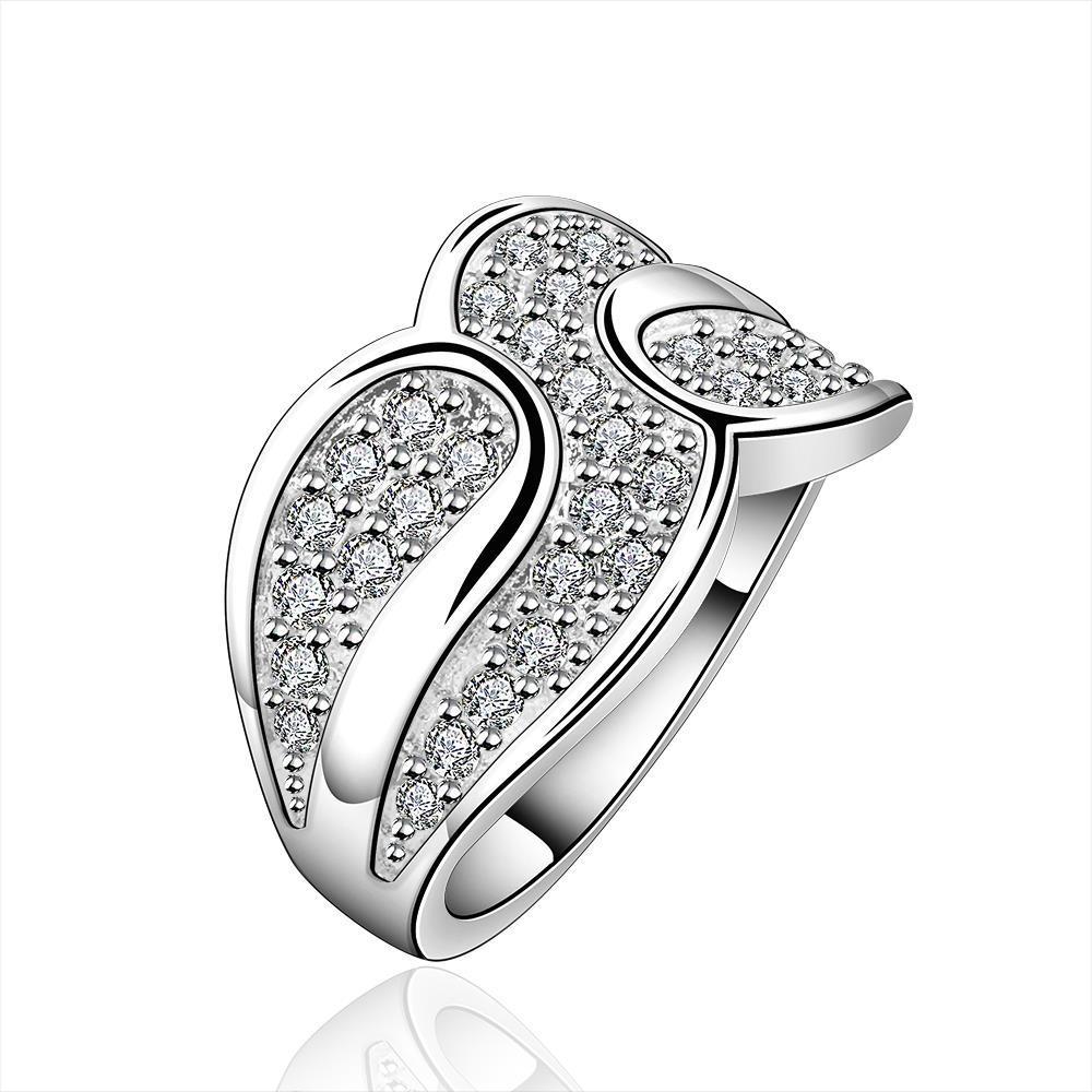 Vienna Jewelry Sterling Silver Multi Jewels Swirl Ring Size: 8