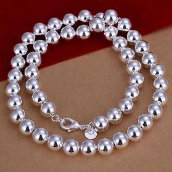 Vienna Jewelry Sterling Silver Multi Bead Necklace - Thumbnail 0