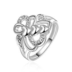 Vienna Jewelry Sterling Silver Blossoming Floral Emblem Ring Size: 8 - Thumbnail 0