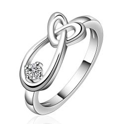 Vienna Jewelry Sterling Silver Intertwined Abstract Petite Ring Size: 7 - Thumbnail 0