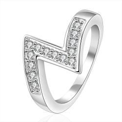 Vienna Jewelry Sterling Silver Zig-Zag Design Classic Ring Size: 7 - Thumbnail 0