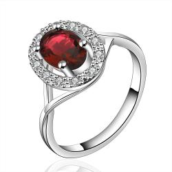 Vienna Jewelry Sterling Silver Ruby Red Jewels Coverd Modern Twist Ring Size: 7 - Thumbnail 0