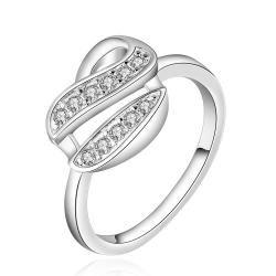 Vienna Jewelry Sterling Silver Jewels Swirl Design Classic Ring Size: 7 - Thumbnail 0