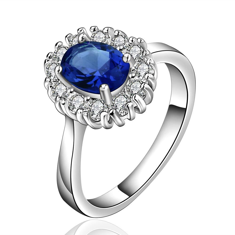 Vienna Jewelry Sterling Silver Sapphire Jewels Covering Petite Ring Size: 8