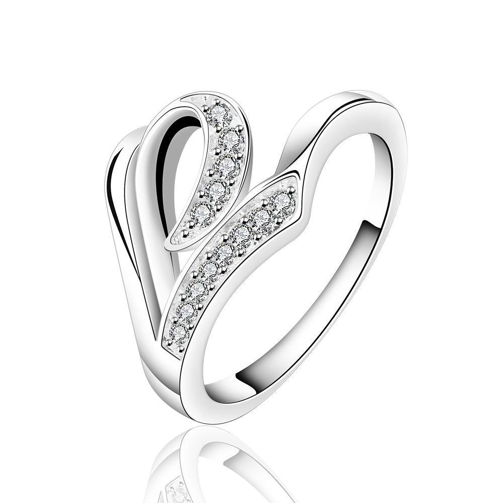 Vienna Jewelry Sterling Silver Multi-Swirl Jewels Petite Ring Size: 7