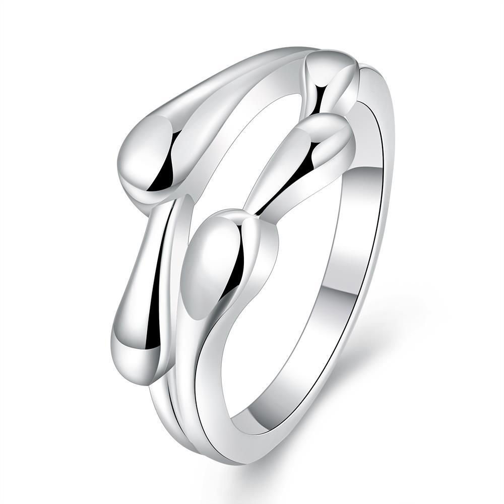 Vienna Jewelry Sterling Silver Curved Multi Lining Petite Ring Size: 8