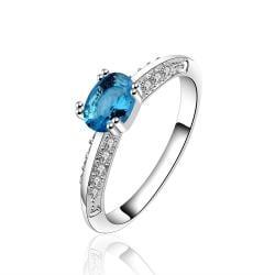 Vienna Jewelry Petite Light Sapphire Classic Wedding Ring Size: 8 - Thumbnail 0