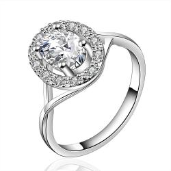 Vienna Jewelry Sterling Silver Classic Crystal Jewels Coverd Modern Twist Ring Size: 7 - Thumbnail 0