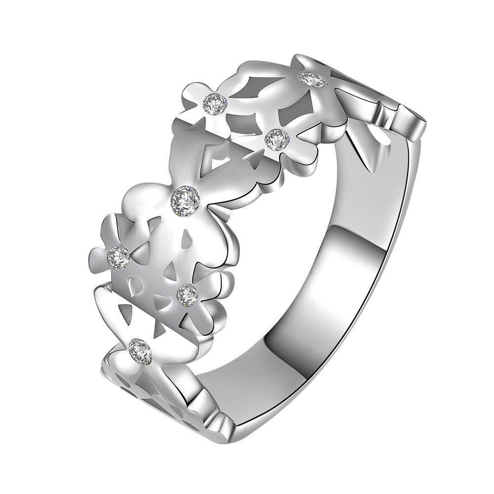 Vienna Jewelry Sterling Silver Interlocking Emblem Design Ring Size: 8