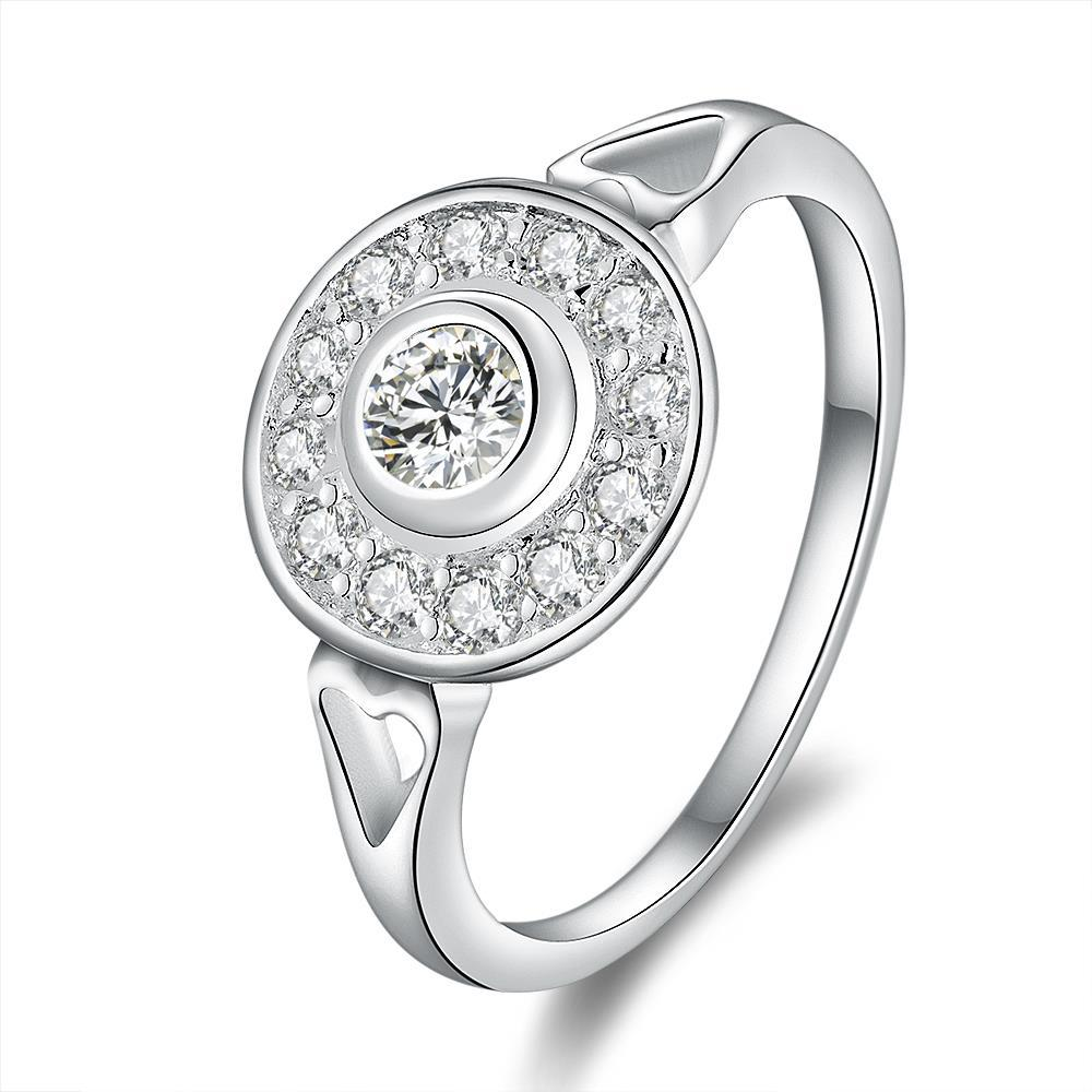 Vienna Jewelry Sterling Silver Mid Circular Jewels Ring Size: 8