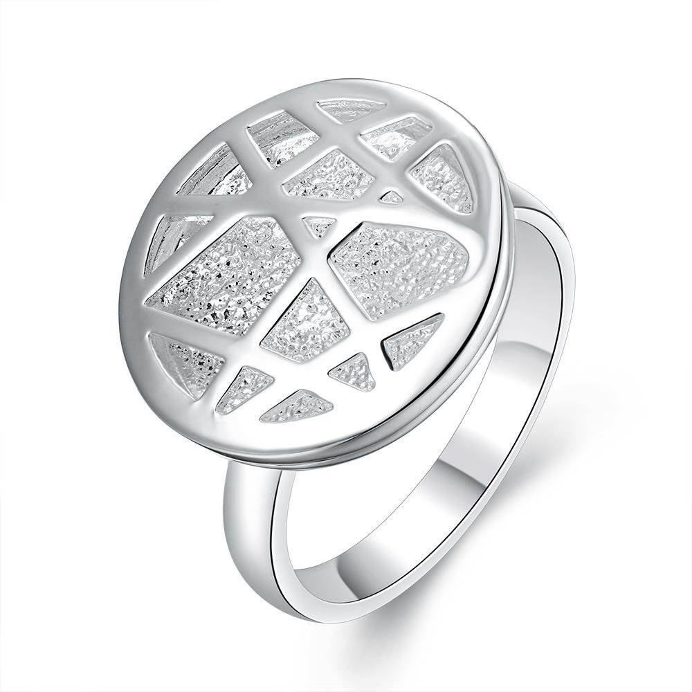 Vienna Jewelry Sterling Silver Laser Cut Circular Pendant Petite Ring Size: 8