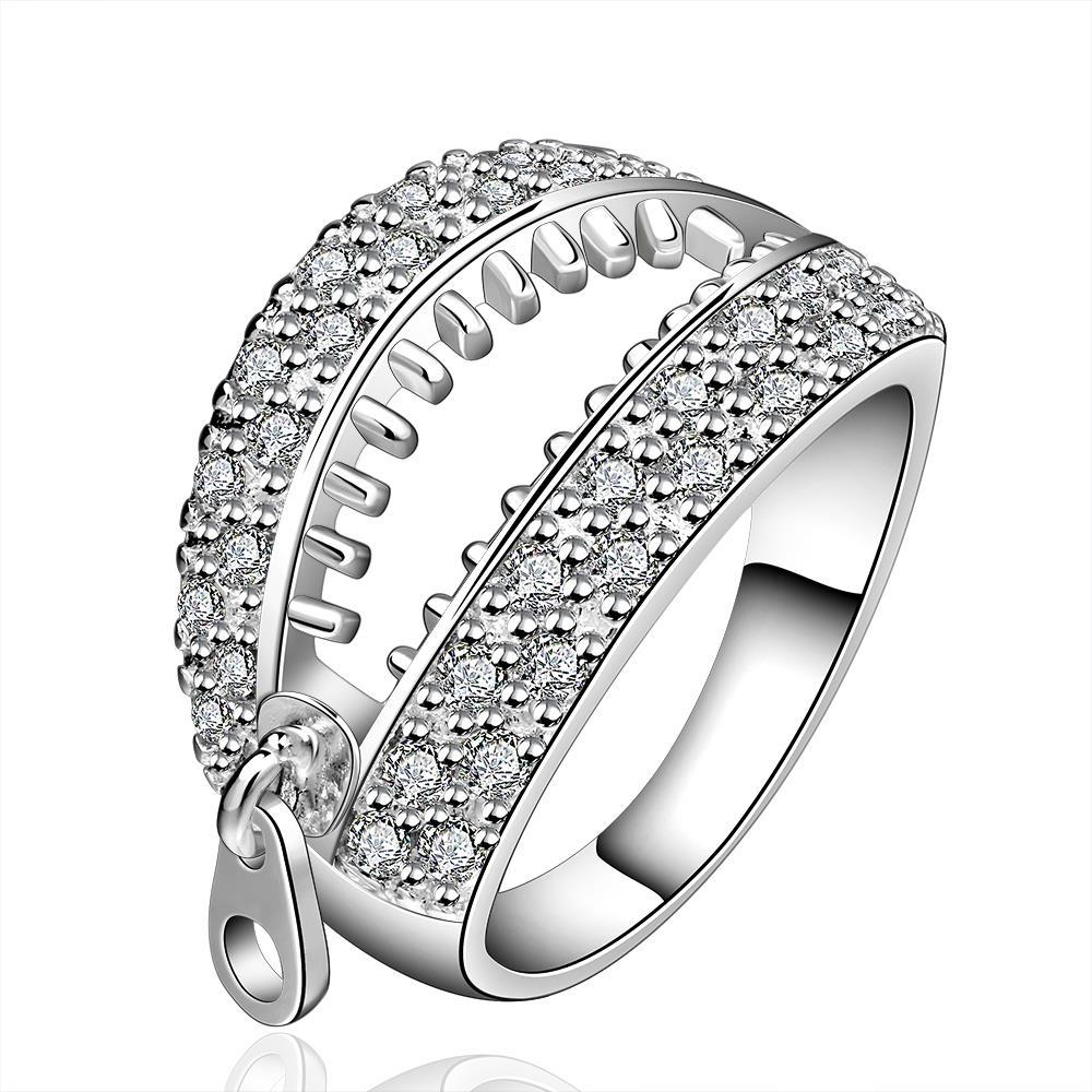 Vienna Jewelry Sterling Silver Open Ended Jewels Covering Ring Size: 8