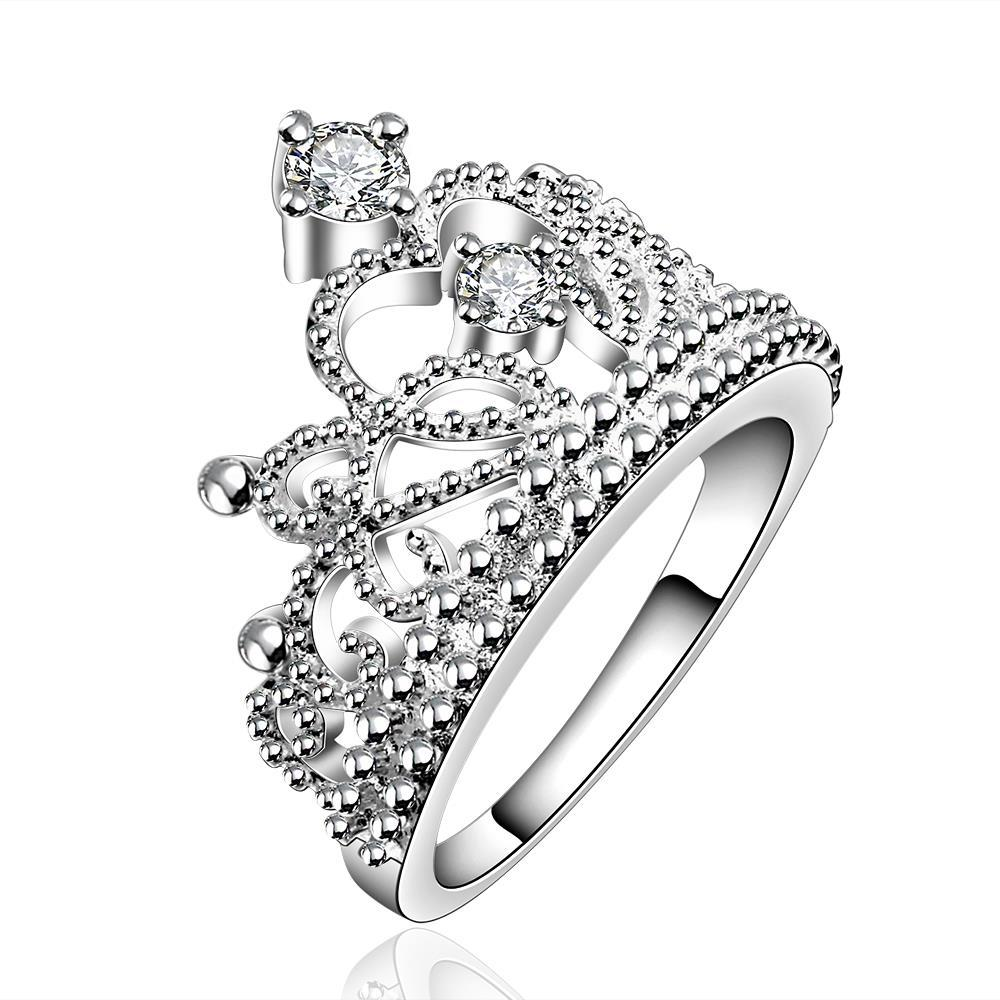 Vienna Jewelry Sterling Silver Curved Queen's Crown Ring Size: 7