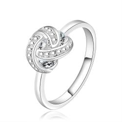 Vienna Jewelry Sterling Silver Love-Knot Jewels Covering Ring Size: 7 - Thumbnail 0