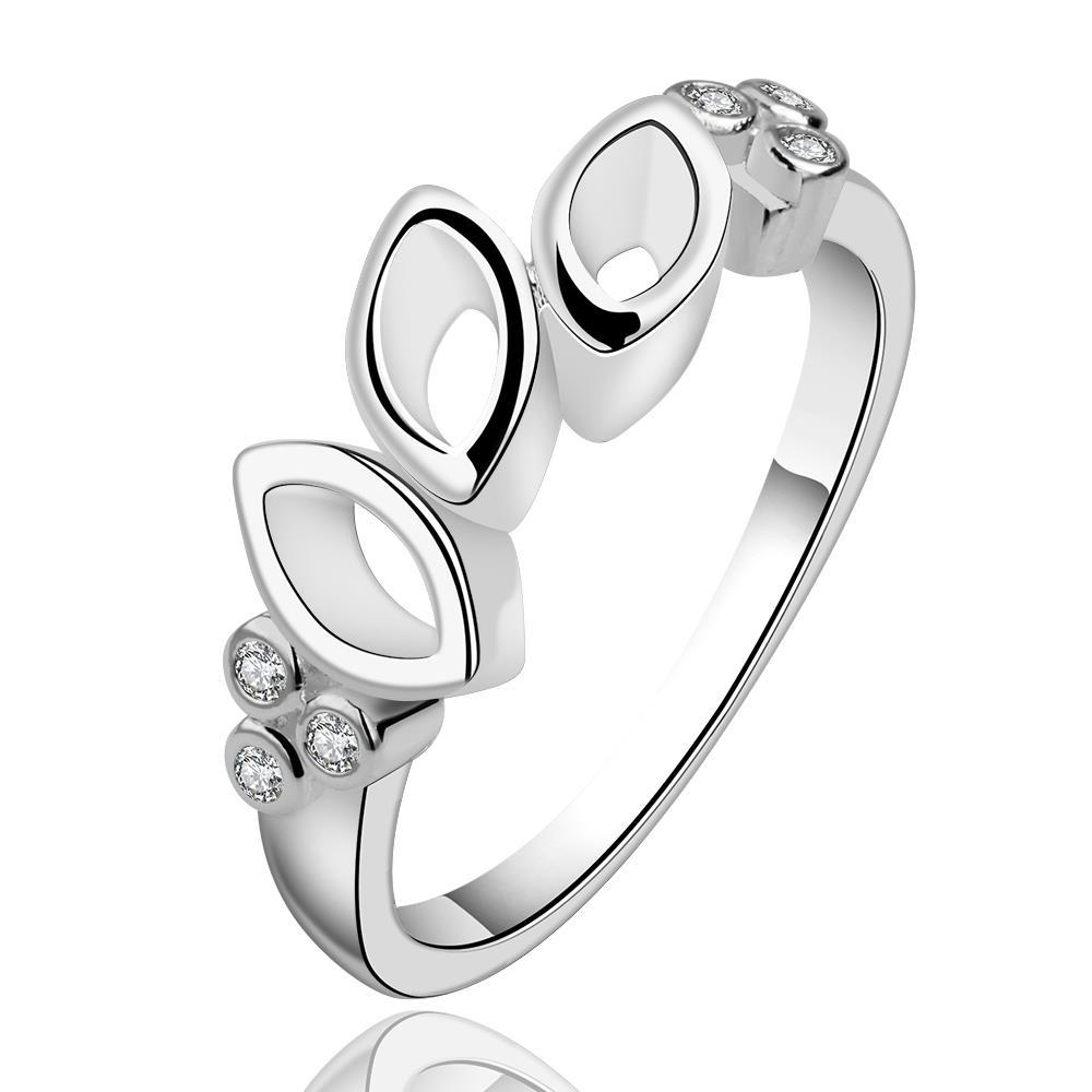 Vienna Jewelry Sterling Silver Trio-Oval Classic Ring Size: 8