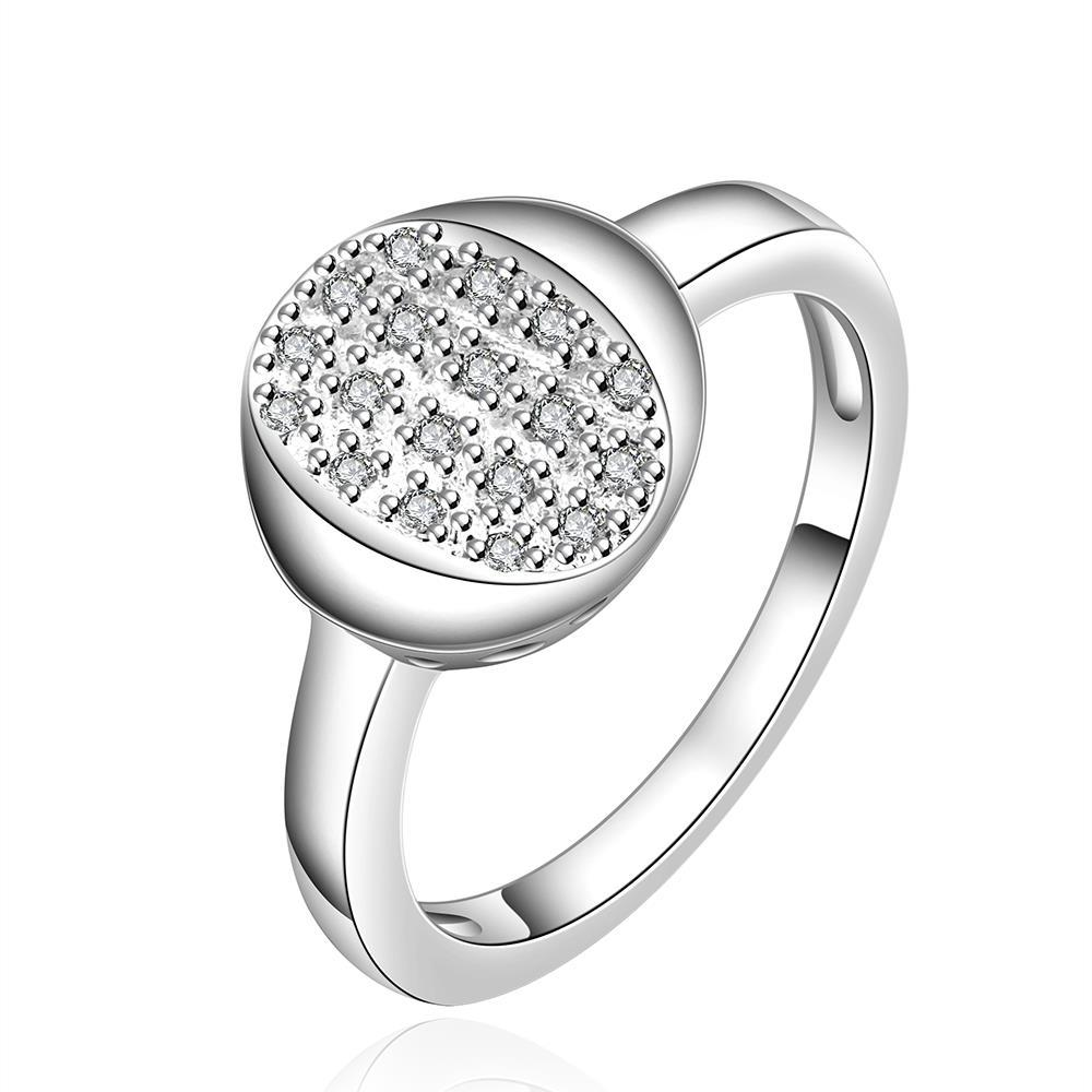 Vienna Jewelry Sterling Silver Circular Jewels Filled Emblem Ring Size: 7