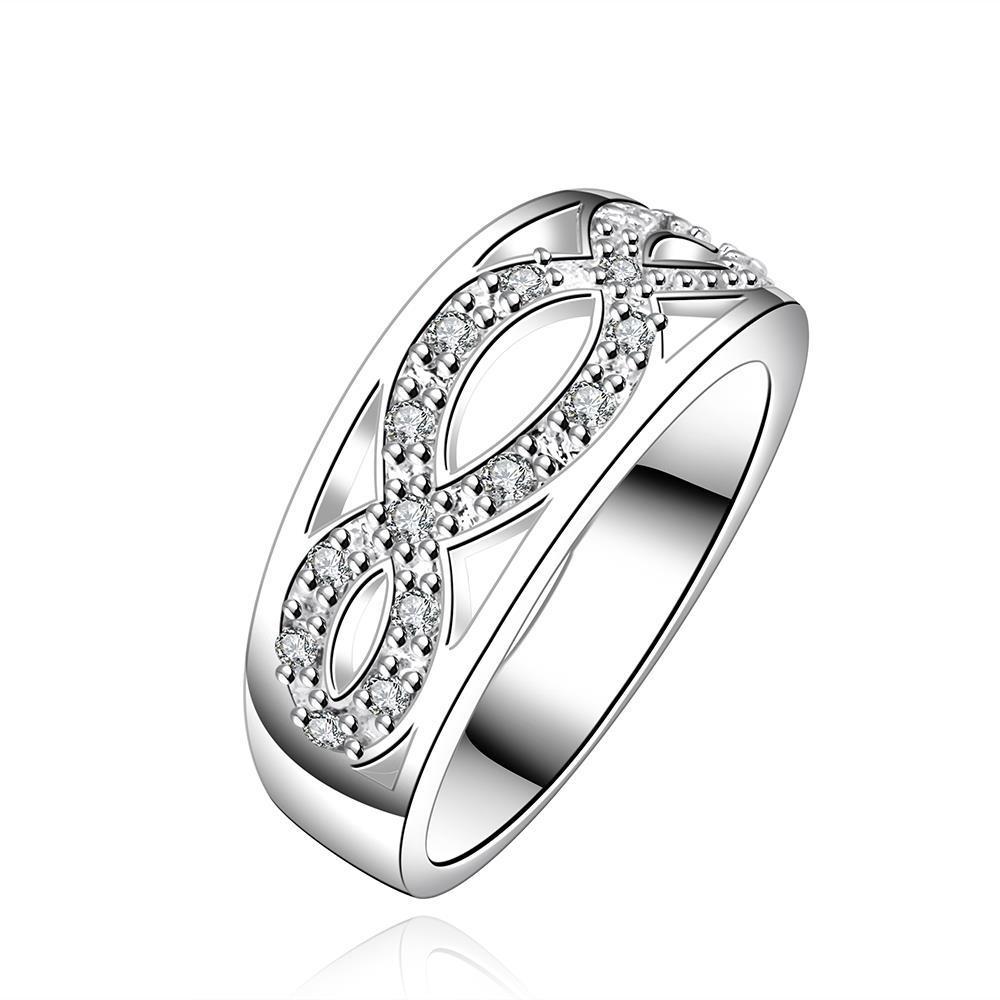 Vienna Jewelry Sterling Silver Duo-Swirl Twin Petite Ring Size: 7