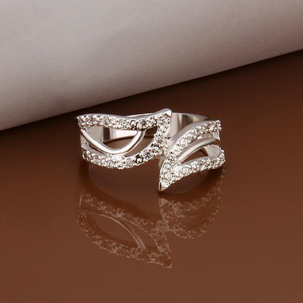 Vienna Jewelry Sterling Silver Jewels Covering Zig-Zag Petite Ring Size: 8