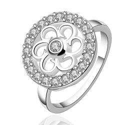Vienna Jewelry Sterling Silver Clover Circular Emblem Ring Size: 7 - Thumbnail 0