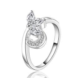 Vienna Jewelry Silve Tone Curved Knot Petite Ring Size: 8 - Thumbnail 0