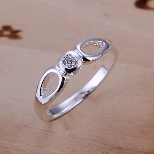 Vienna Jewelry Sterling Silver Duo-Hollow Circular Petite Ring Size: 8