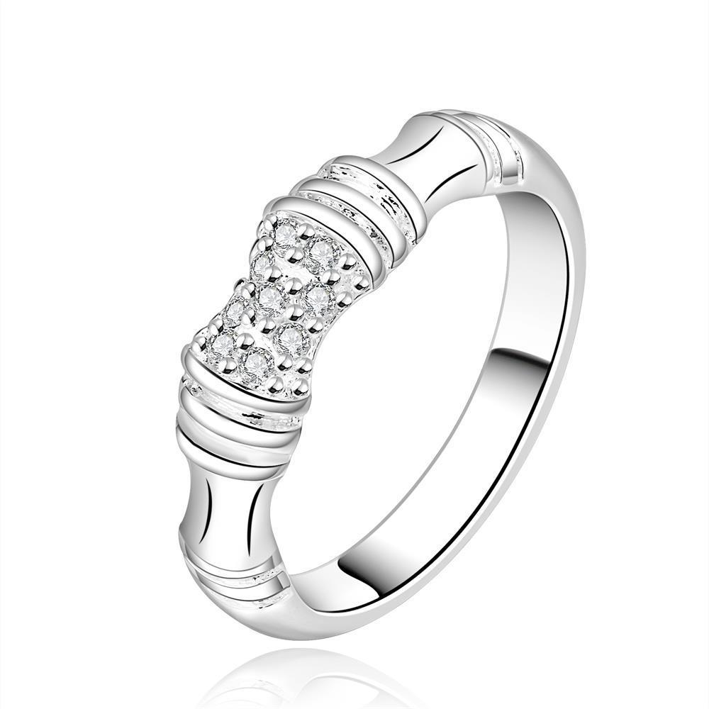 Vienna Jewelry Sterling Silver Bamboo Inspired Ring Size: 8