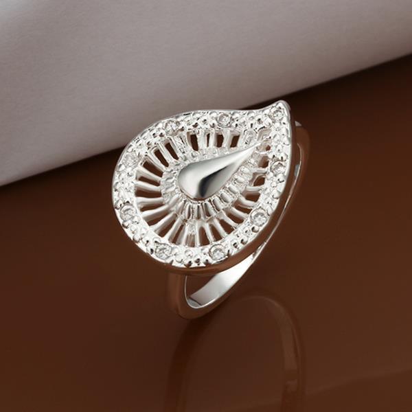 Vienna Jewelry Sterling Silver Swirl Emblem Petite Ring Size: 8