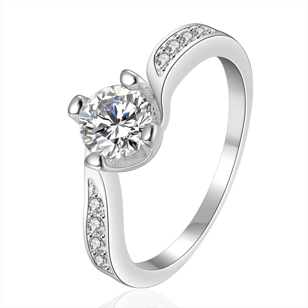 Vienna Jewelry Sterling Silver Classical Curved Jewels Ring Size: 8