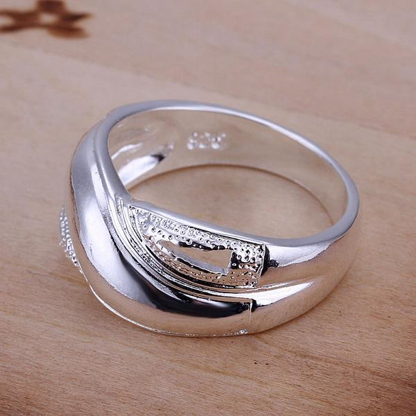 Vienna Jewelry Sterling Silver Classical Curved Ring Size: 8