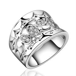 Vienna Jewelry Sterling Silver Jewels Covering Modern Ring Size: 8 - Thumbnail 0